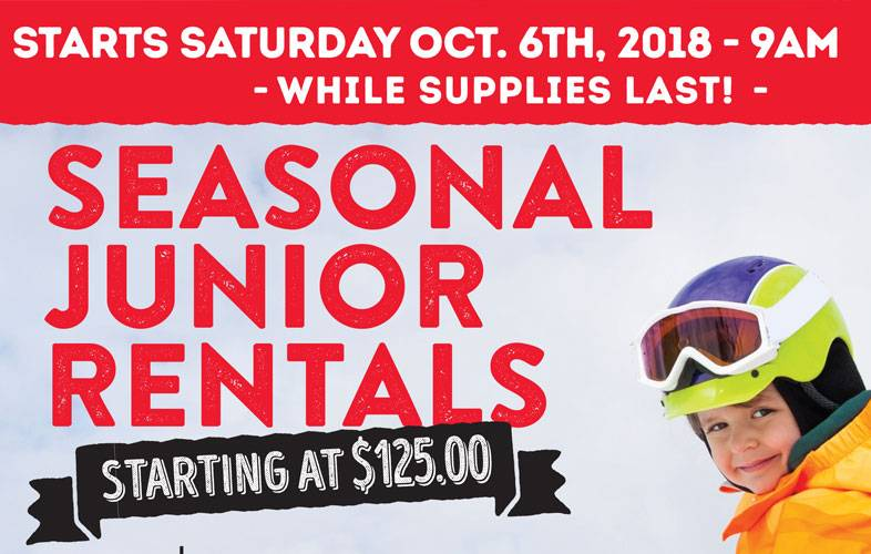 junior vail ski rental deal